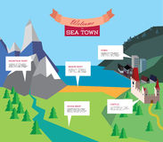 Tourism infographic. Vector resort illustration Royalty Free Stock Images