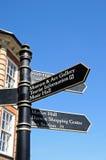Tourism Information Sign, Shrewsbury. Stock Image
