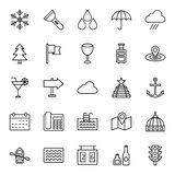 Tourism Isolated Vector Icons Pack that can be easily modified or edit vector illustration
