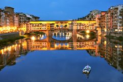 Tourism in Italy ,  Florence city with the Old Bridge Stock Photos