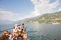 Tourism, Lake Como Stock Photo