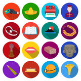 Tourism, leisure, business and other web icon in flat style. lantern, mushroom, food icons in set collection. Tourism, leisure, business and other  icon in flat Stock Image