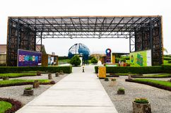 Tourism in Lima, the capital of Peru. Lima, Peru January 17th, 2018 : Voices for Climate Ecological Park, is the first theme park on climate change in South stock photo