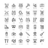 Tourism line Icons Pack stock illustration