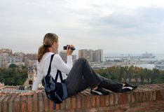 Tourism In Malaga Royalty Free Stock Photography