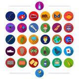 Tourism, nature, universe and other web icon in flat style.textiles, sport, business icons in set collection. Tourism, nature, universe and other  icon in flat Royalty Free Stock Photos
