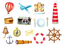 Tourism and nautical icons Stock Photo