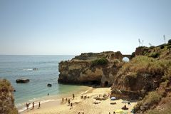 Tourism near Lagos in Portugal Royalty Free Stock Photo