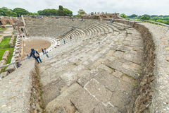 Tourism in the old town of Ostia, Rome, Italy Royalty Free Stock Photo