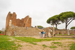 Tourism in the old town of Ostia, Rome, Italy Stock Photo