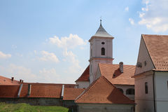 Tourism in Osijek, Croatia / Roofs And Church Tower Of Ancient City Stock Photography