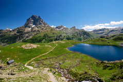 Tourism in Ossau Royalty Free Stock Photos