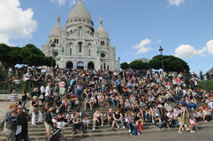 Tourism in Paris Royalty Free Stock Image