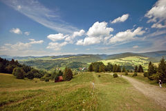 Tourism in Pieniny. One of the most beautiful gorges in the Polish mountains Homole, Pieniny, Poland Stock Image