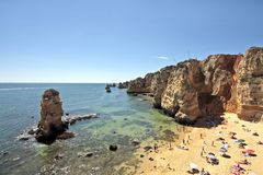 Tourism in Portugal. Tourism in the Algarve near Lagos in Portugal Royalty Free Stock Images
