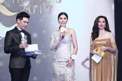 Tourism Queen泰国小姐最后的回合2017年 免版税图库摄影