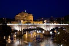 Tourism rome castel sant angelo stock images