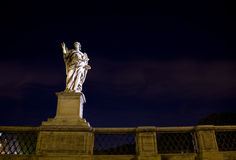 Tourism rome castel sant angelo. Night image of the famous destination of castel sant angelo in vatican city rome Italy Royalty Free Stock Photography