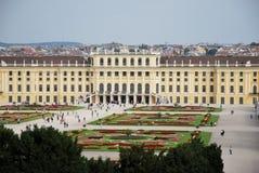 Tourism in the Schönbrunn palace of Vienna Stock Photo