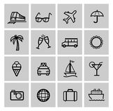 Tourism set icons Stock Images
