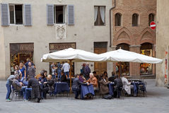 Tourism in Siena, Tuscany, Italy Royalty Free Stock Image
