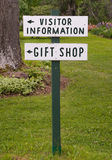 Tourism Sign. Visitor information and gift shop sign in rural setting Royalty Free Stock Images
