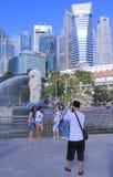Tourism Singapore skyline Royalty Free Stock Photo