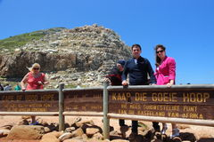 Tourism in South Africa. On Cape of Good Hope near Cape Town, South Africa Stock Photography