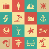 Tourism and summer set icons Stock Photo