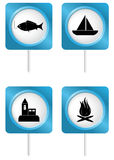 Tourism symbols 4 Stock Photography