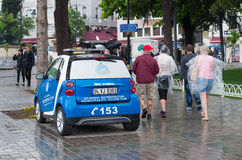 Tourism team car Stock Image