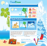 Tourism template for web site Stock Photo