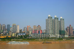 Tourism terminal side of the Yangtze River in Chon Stock Photo