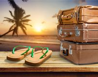 Tourism. Holiday bag camera concept suitcase backdrop stock photo