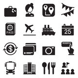 Tourism & Tourist icons set Vector illustration Royalty Free Stock Image