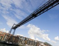 Tourism transportation bridge Royalty Free Stock Image