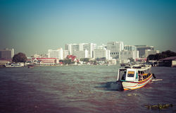 Tourism and travel in Bangkok by Boat. Stock Image