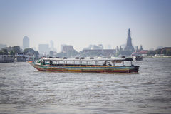 Tourism and travel in Bangkok by Boat. Royalty Free Stock Photos