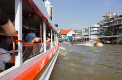 The Tourism and travel in Bangkok by the Chao Phraya Express Boa Stock Photos