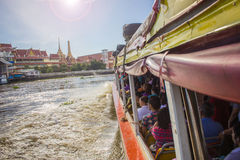 Tourism and travel in Bangkok by the Chao Phraya Express Boa Stock Photography