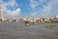 The Tourism and travel in Bangkok river. Royalty Free Stock Image