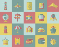 Tourism and travel icons. Vector illustration Royalty Free Stock Photography