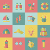 Tourism and travel icons. Vector ilustration Stock Images