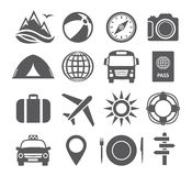 Tourism and travel icons Royalty Free Stock Photography