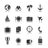 Tourism travel interface elements Royalty Free Stock Photography