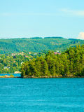 Tourism and travel. Landscape and fjord in Norway. Stock Photography