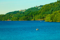 Tourism and travel. Landscape and fjord in Norway. Stock Images