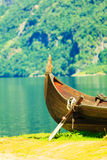 Tourism and travel. Mountains and fjord in Norway. Royalty Free Stock Images