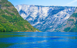 Tourism and travel. Mountains and fjord in Norway. Stock Photos