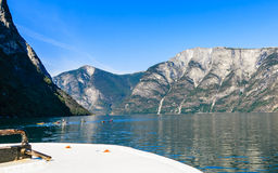 Tourism and travel. Mountains and fjord in Norway. Stock Images
